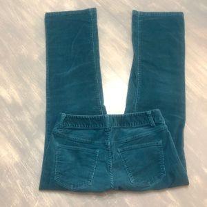 Talbots Green Curvy Corduroy Pants 4P